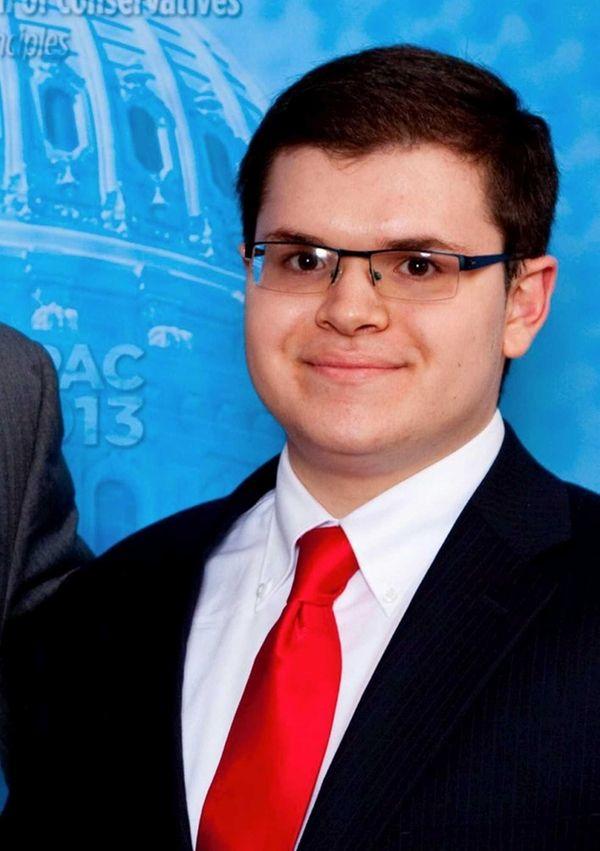 Adam Savader, 23, mailed a registration for a