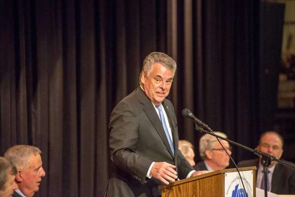 Peter King speaks at the Nassau County Republican