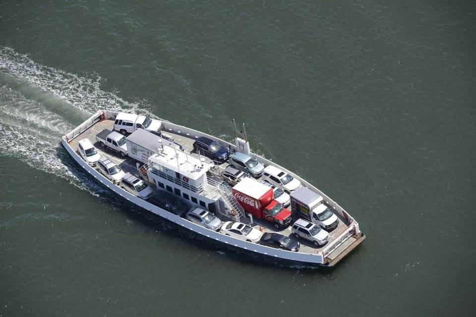An aerial view of the North Ferry that