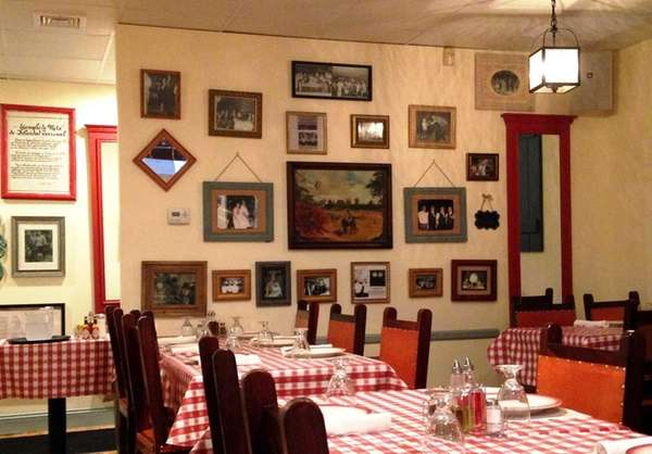 The dining room at Rincon Criollo in Huntington