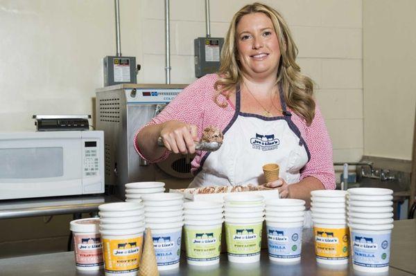 Liza Tremblay, owner of Joe and Liza's Ice