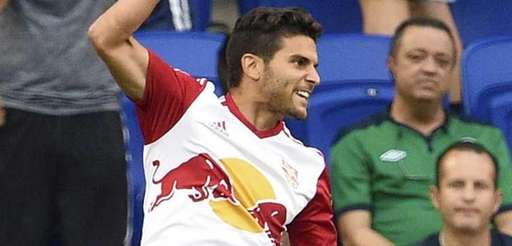New York Red Bulls midfielder Sal Zizzo celebrates