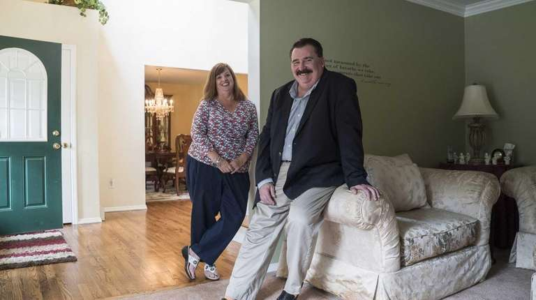 Tom and Jill Karlya in their four-bedroom Victorian