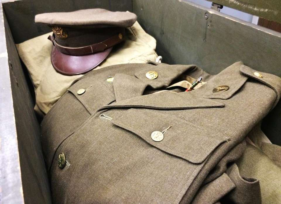 During World War II, soldiers stowed their uniforms