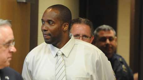 Shawn Lawrence appears at Suffolk County Court in