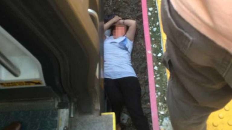 A woman sustained minor injuries when she fell