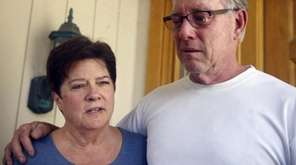Liz Sullivan, left, and Jim Steinle, right, parents