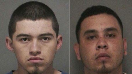 Jose Barahona, 18, and Bryan Bonilla, 18, both
