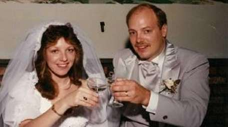 Joanne and Danny Marks on their wedding day,