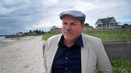Author Matthew McGevna on a South Shore beach.