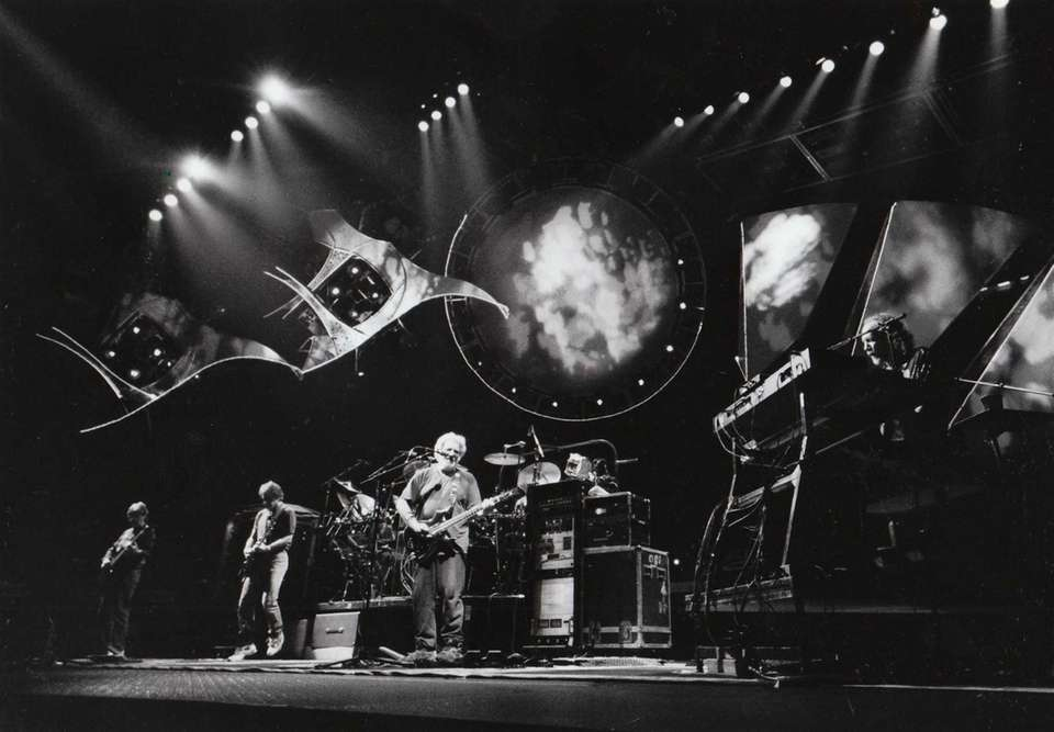 The Grateful Dead performs at a sold-out concert
