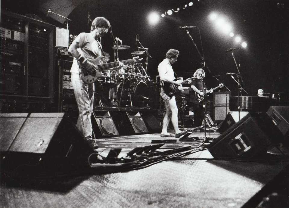 The Grateful Dead plays before a sold-out crowd