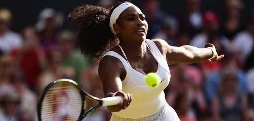 Serena Williams of the United States plays a