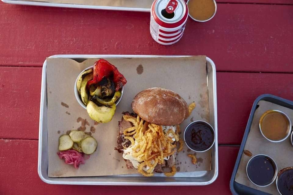 The Classic BBQ sandwich is made with brisket