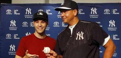 Alex Rodriguez of the New York Yankees poses