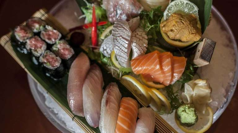 Omakase is a specialty at Ginza sushi restaurant