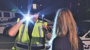 A motorist is observed at a holiday sobriety