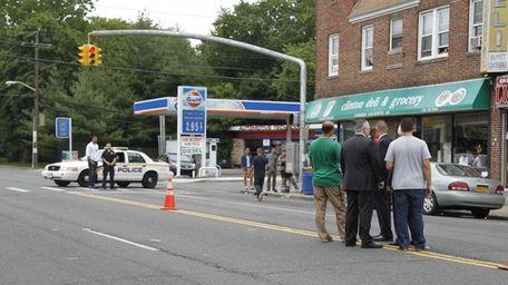 Nassau and Hempstead police at the scene of