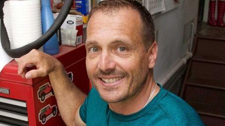 Frank O'Brien, an electrician at the Nassau Coliseum,