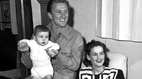 Kirk and Diana Douglas pose with their second