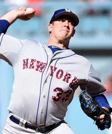New York Met Matt Harvey pitches during the