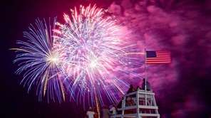 Fourth of July Fireworks explode over Jones Beach