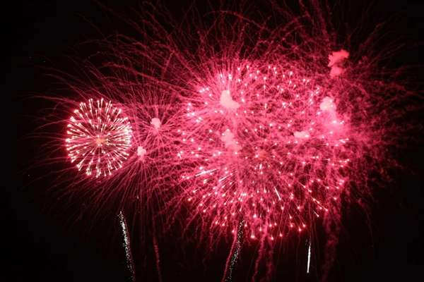 Fireworks at Jones Beach on Saturday, July 4,