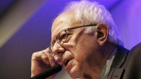 Democratic presidential candidate, Sen. Bernie Sanders, I-Vt. speaks