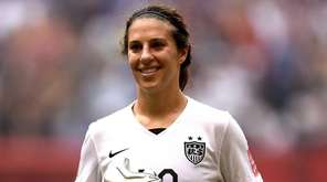 Carli Lloyd, No. 10, of the United States,