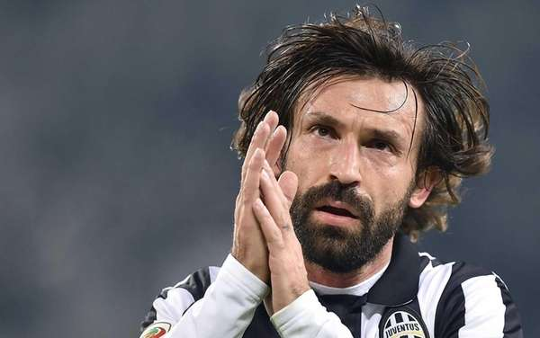 Juventus' Andrea Pirlo reacts during a Serie A