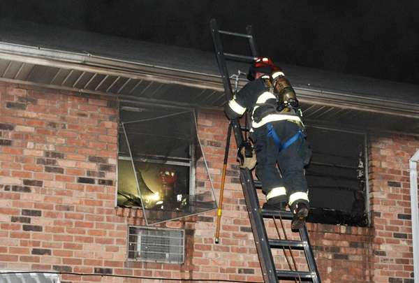A man pulled from a Baldwin apartment fire