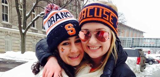 Syracuse University student Elissa Candiotti of Hewlett enjoys