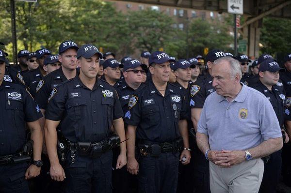 New York City Police Commissioner Bill Bratton seen