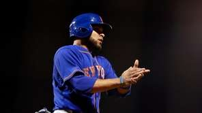 Johnny Monell #19 of the New York Mets