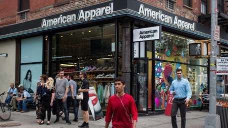 One of the American Apparel stores in Manhattan