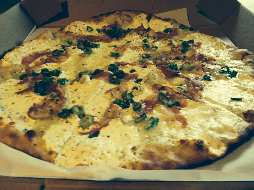 White pizza (Pizza No. 3) at Massa's in