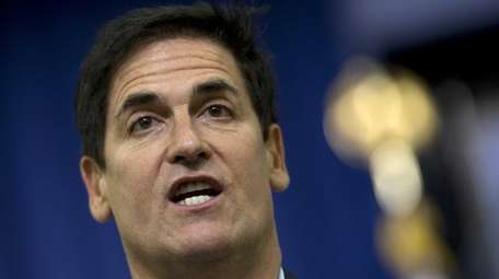 Dallas Mavericks owner Mark Cuban answers questions from