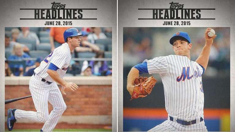 Topps has released two digital cards of Mets