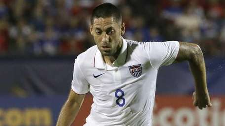 U.S. forward Clint Dempsey takes control of the