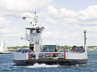 A ferry from the North Ferry Co. heads
