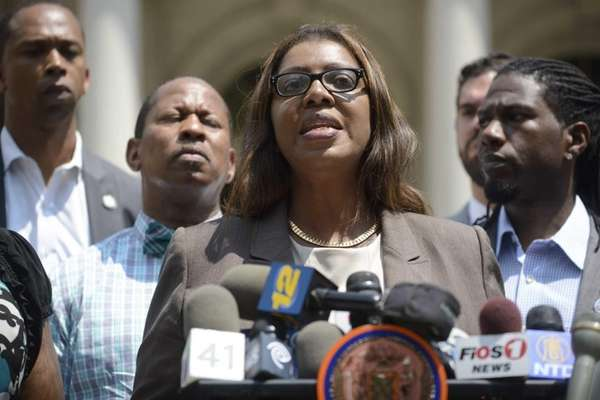 New York City Public Advocate Letitia James at