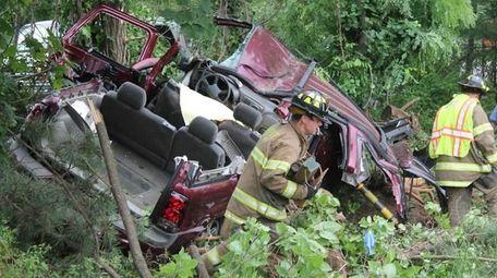 The driver was pronounced dead at the scene