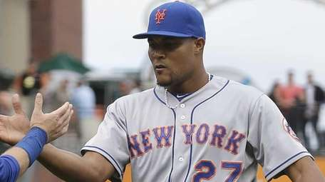 New York Mets pitcher Jeurys Familia and catcher