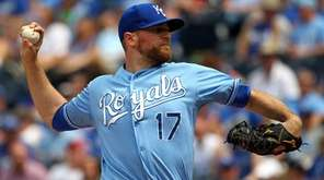 Reliever Wade Davis #17 of the Kansas City