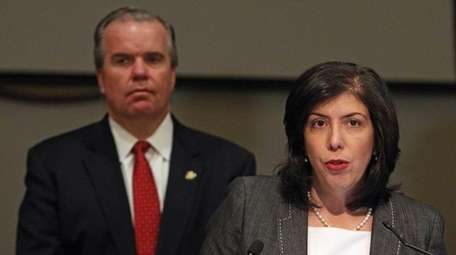 Acting Nassau District Attorney Madeline Singas, with Acting