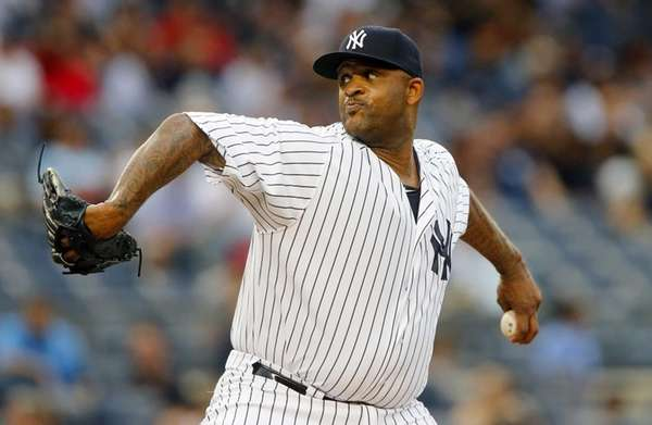 CC Sabathia of the New York Yankees pitches