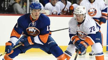 New York Islanders Blue Team forward Mathew Barzal