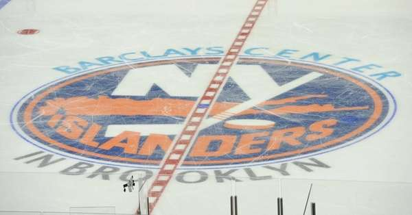 Center ice during the New York Islanders Blue