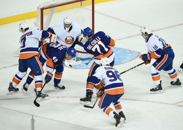 New York Islanders Blue Team forward Michael Dal