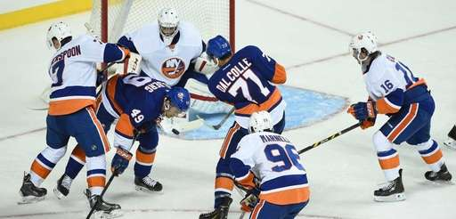 New York Islanders Blue Team forward Michael Dal